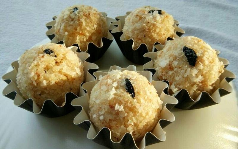Coconut Ladoo - coconut sweet balls