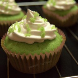 Green velvet cup cakes / Cup Cake Recipe