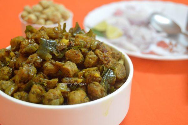 Soya chunks pepper masala / Meal maker masala