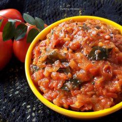 Tomato thokku / Tomato chutney