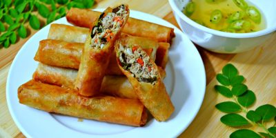 Fish Lumpia (Tulingan) with Malunggay