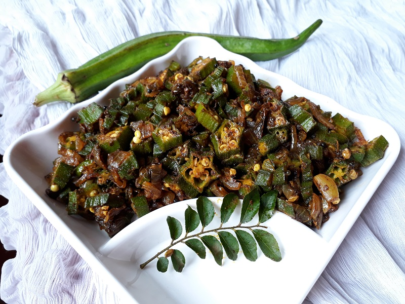 okra pepper fry