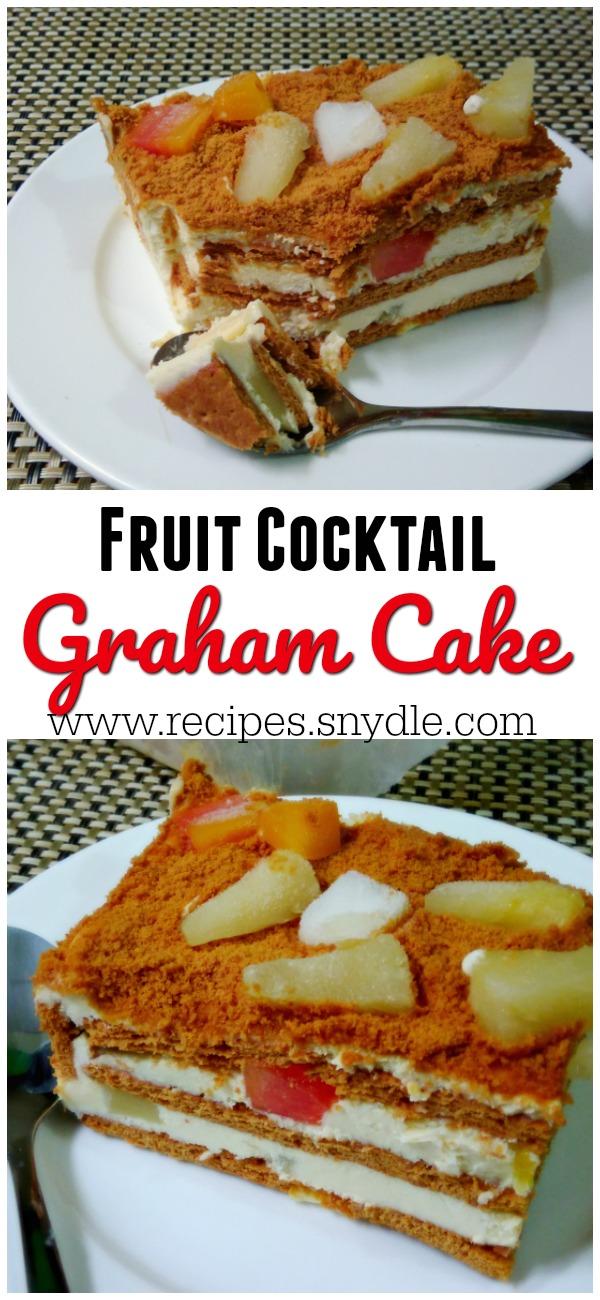Fruit Cocktail Condensed Milk Cake