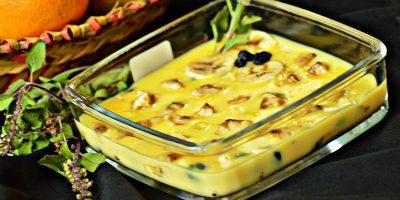 Banana Custard pudding / Simple Banana Pudding